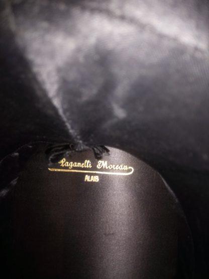 "Chapeau claque ou Gibus inscription "" Paganelli Moreau Alaid"""