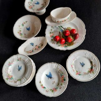 Dinette ancienne en porcelaine de Limoges